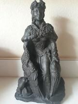 Lge Rare Black Stone Freya Statue Dryad Designs - Goddess Norse Wiccan P... - $74.25
