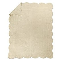 "Luxury Ivory Oversized Rounded Edges Reversible Throw - 60"" x 72"" - $894,38 MXN"
