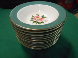 "HOMER LAUGHLIN USA ""Empire Green"" Dinnerware- Set of 10 BERRY BOWLS - $29.51"
