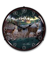 Field of Dreams Deer Brand New Backlit Lighted Clock Garage Office Colle... - $129.95