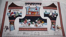 Concords Holiday on Ice Vest Christmas Polar Bear Kesslers Fabric Panel ... - $6.93