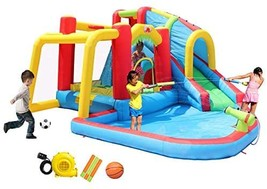 WELLFUNTIME Inflatable Water Park and Bouncy House with 3 Sprinkler Tunnels, Tra - $1,287.00
