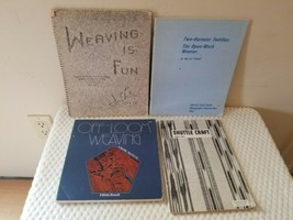 4 Weaving Books~ Off Loom ~ Shuttle Craft~ Weaving is Fun~ Two Harness T... - $46.15 CAD