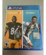 EA Sports Bundle FIFA & Madden NFL 19 for PlayStation 4 PS4 NEW SEALED - $10.88