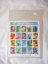 DC Comics Super Heros Pane of 20  - Mint NH VF Original pk - $10.46