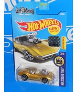 Hot Wheels 2017 Factory Set #99 '68 Corvette GAS MONKEY GARAGE Gold - $12.00