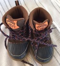 OSHKOSH Toddler 5M Navy Blue Brown Duck Boots Rubber Soles Grayson 01 Hi... - £7.49 GBP
