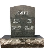 Dark Gray Granite Monument Headstone Oval Top Gravestone ENGRAVING INCLUDED - $990.00