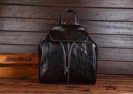 Fashion vintage women backpack daily school bag shoulder travel bag genuine leather 6 thumb200