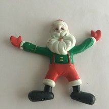 "VTG Rubber Toy Santa Claus Bendable Flexible Christmas Trendmaster 5""Col... - $10.84"