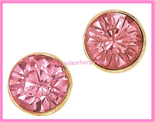 Breast Cancer Pink Hope Stud Earring Pack fo Four Goldtone Earrings 2018 image 3