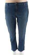 Denim & Co 5-Pocket Slim Straight Leg Full Len Jeans Bleached 20P NEW A2... - $27.70