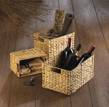 Rectangular Woven Storage Nesting Baskets for Magazines, Bath, Kitchen Set of 3  - $40.95