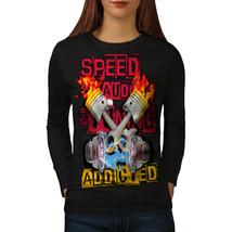 Speed Addicted Fashion Tee  Women Long Sleeve T-shirt - $14.99
