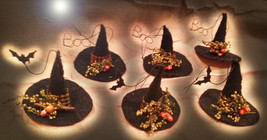 Free W Any Halloween Order Witch Hat Ornament 27X Witches Brooms Magick CASSIA4 - $0.00