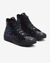 NIB*Converse All Star Holiday Scene Sequin High Top Sneakers*Black Multi... - $115.00