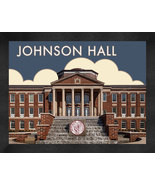 "Meredith College ""Johnson Hall"" 13 x 16 Art Deco Framed Print  - $39.95"
