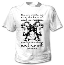 Avicenna The World Is Divided Quote - New Cotton White Tshirt - $23.60