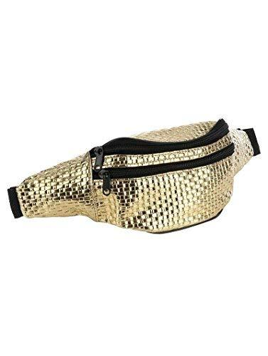 Trendy Woven Fanny Pack Waist Pack (Gold)