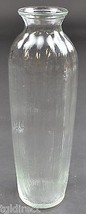 "FTDA Clear Glass Ribbed Pattern Bud Vase 9"" Tall Home Decor Bouquet Flower - $9.99"