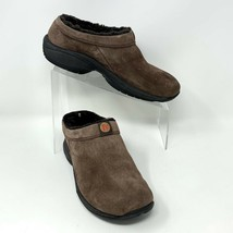 Merrell Womens Brown Suede Fur-lined Slip on Clog Mules, Size 8 - $19.75