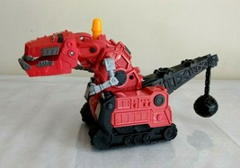 Dinotrux 2015 Red Crane T-Rex Dinosaur Sounds Moves Mattel - $16.82