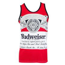 Budweiser Bottle Large Logo Tank Top Red - $25.98+