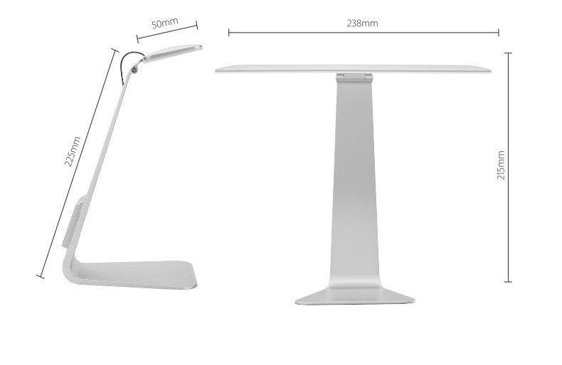 Ultrathin Desk Lamp LED 3 Mode Dimming Touch Switch Folding USB Built in Battery