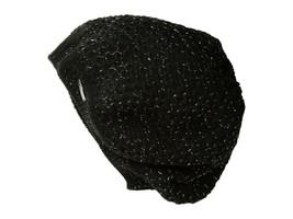 Calvin Klein Lurex Texture Beret Black Winter Hat $40 - NWT - $19.99