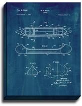 Canoe Patent Print Midnight Blue on Canvas - $39.95+