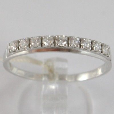 ANILLO DE ORO BLANCO 750 18 CT,VERETTA 9 DIAMANTES QUILATES TOTAL 0.28,VÁSTAGO
