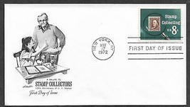 USA 1972 Sc 1474 STAMP COLLECTING Magnifying Glass Artmaster FDC - $0.99