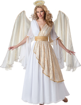 In Character Womens Heavenly Angel Adult Costume, White/Gold - ICC-51012 - $139.99