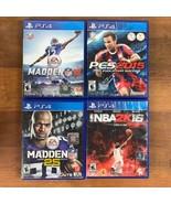 PS4 Sports Game Bundle Madden 16 NBA 2K 16 NBA PES SOCCER 2015 Madden 25 - $13.06