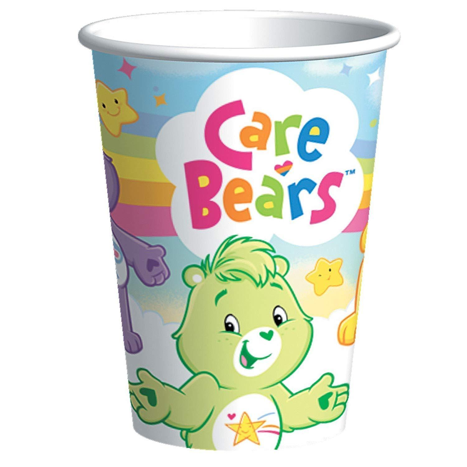 LOT OF 6  CARE BEARS 8 ct-PAPER CUPS 9 FL. OZ. -BIRTHDAY- PARTY SUPPLIES - $37.39