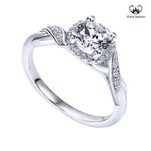 Engagement Wedding Women's Ring In Diamond White Gold Plated 925 Sterlin... - ₨4,803.96 INR