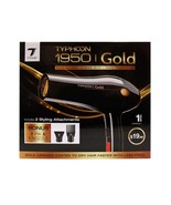 Tyche Typhoon 1950 Gold Ceramic Coat Grill Hair Dryer Styling Attachment... - $19.79