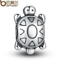 Silver Color Cute Turtle Beads Fit Bracelet Necklace Pendant Original Je... - $3.36