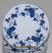Fine China of Japan Royal Meissen * 4 BREAD & BUTTER PLATES * Blue White... - $19.95