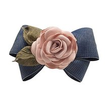 Handmade French Barrette Hair Barrettes Bowknot Cloth Rose Hair Bow Hair Pin