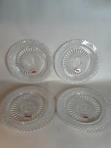 "Avon 92nd Anniversary Fostoria Full Lead Crystal 8""Plates1st Set of 4 Mi... - $29.13"
