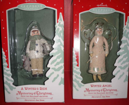 Hallmark Keepsake Winter Angel & Winter's Ride Memories Of Christmas Orn... - $8.42