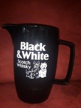 Black & White Scotch Whisky Ceramic Water Jug Pitcher Scotty Dog Vintage... - $44.54