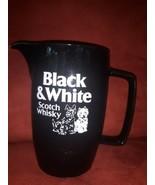 Black & White Scotch Whisky Ceramic Water Jug Pitcher Scotty Dog Vintage... - $44.54