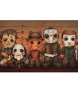 KILLER LINEUP - CLASSIC HORROR MOVIE CHARACTERS - POSTER 24x36 - $15.00