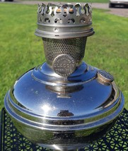 Rare- Antique Aladdin Model 5 Round Wick Nickel Plated Oil Lamp-Very col... - $175.00