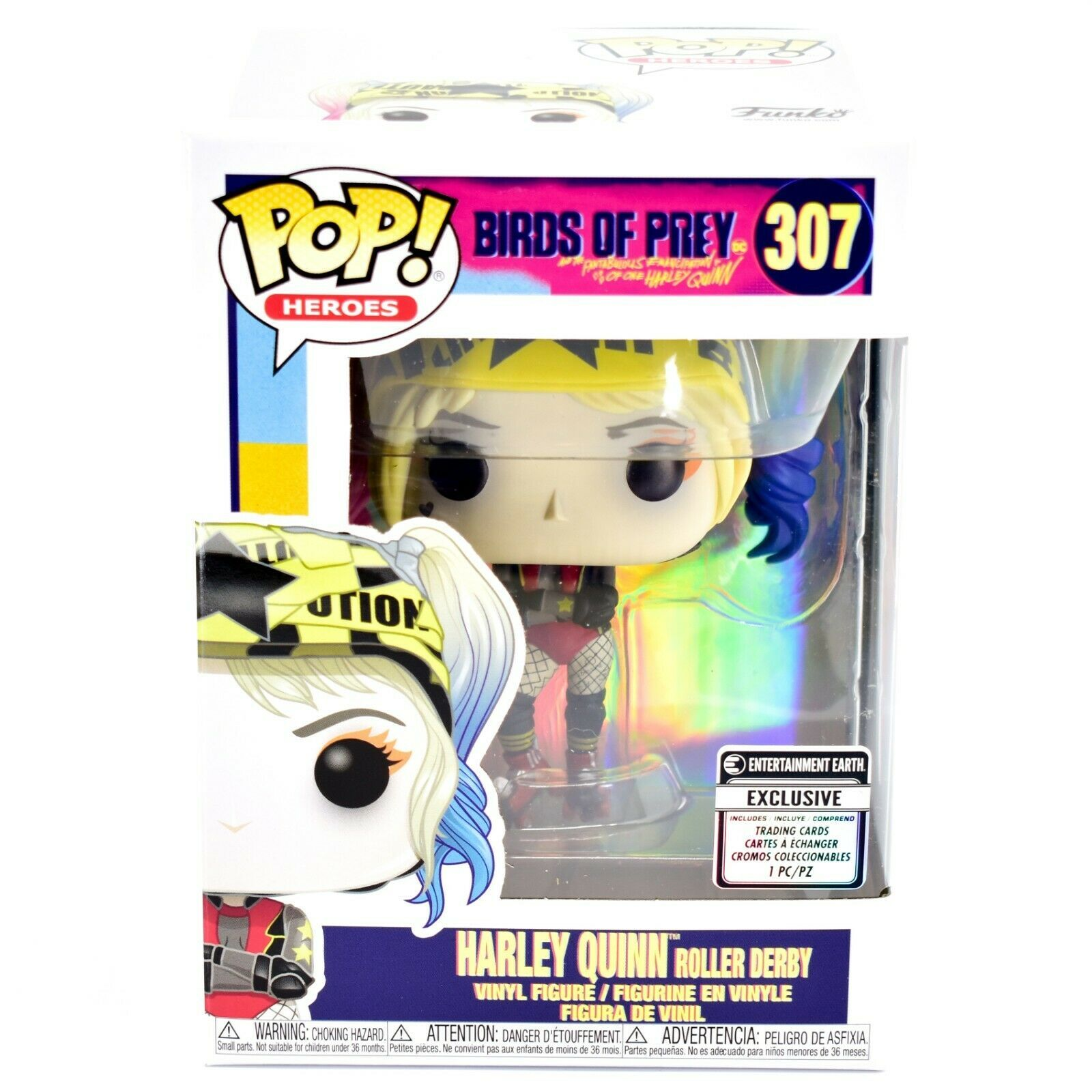 Funko Pop Heroes Birds of Prey Roller Derby Harley Quinn Entertainment Earth 307