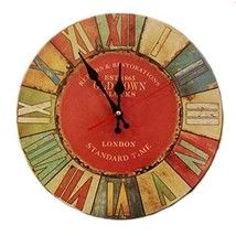 """George Jimmy 14"""" Retro Unique Wooden Wall Clock Decor Silence Hanging Cl... - $36.72"""