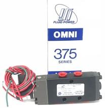 "NIB OMNI 375-02-001-37 SOLENOID VALVE 1/4"" NPT 24V DC COIL 7W, 30-150 PSI"