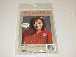Wearables To Cross stitch Rose 60256 for clothing kit RARE NOS new old stock  - $20.61